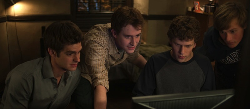 the social network jesse eisenberg andrew garfield