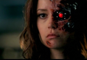 terminator sarah connor chronicles summer glau cameron robot face